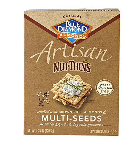 Gluten Free Artisan Nut-Thins Cracker Snacks with Multi-Seeds (Pack of ...