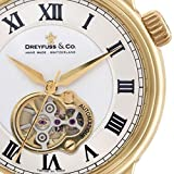 Dreyfuss 1925 Open Heart Men's Automatic Watch DGS00092-01 (Color: black & white, Tamaño: Adult)