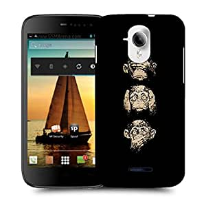 Snoogg Gandhiji'S Three Monkey Designer Protective Back Case Cover For MICROMAX A117