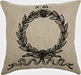 Rizzy Home T-3730 Decorative Pillows, 18 by 18-Inch, Natural/Black, Set of 2