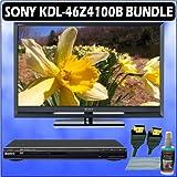 Sony Bravia Z-Series KDL-46Z4100B 46in. 1080P Black LCD TV + Sony DVD Player w/ Accessory Kit