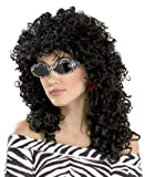 Wild Curl Black Wig - Adult Std.
