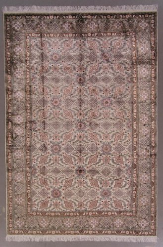 6x9 OVER 400 KPSI* PURE SILK PERSIAN TABRIZ RUG CARPET