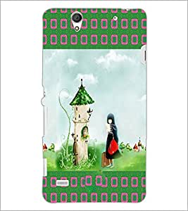 PrintDhaba Cartoon D-2489 Back Case Cover for SONY XPERIA C4 (Multi-Coloured)