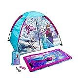 Disney Frozen 5 Piece Explorer Camping Play Set For Kids Tent, Sleeping Bag, Sling Bag, Flashlight And Compass