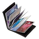 Wonder Wallet - Amazing Slim RFID Wallets As Seen on TV, Black Leather