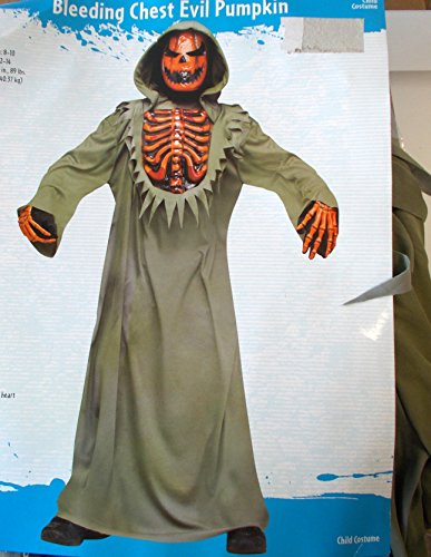 Bleeding Chest Evil Pumpkin Child Costume 8 NWT