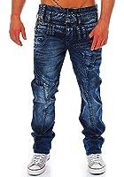Cipo & Baxx Herren Jeans Straight Cut Triple Bund