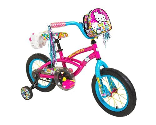 Dynacraft-8048-15ZTJ-Girls-Hello-Kitty-Bike-PinkBlue-14-Inch