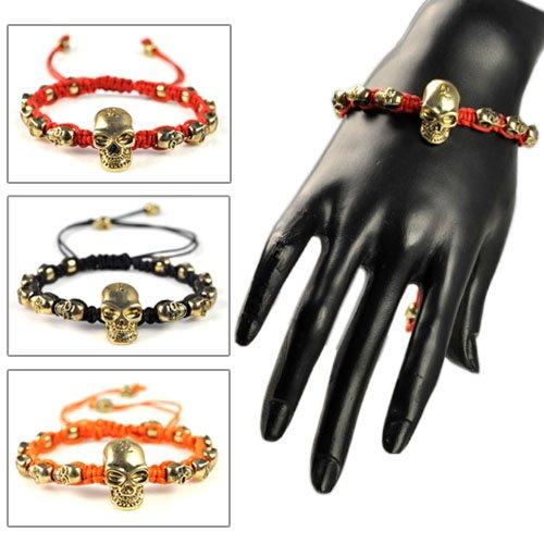 Featured skull charm weaving bracelets,BR-1385
