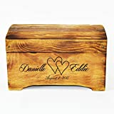 Wooden Rustic Keepsake Memory Box - Wedding Card Box Small