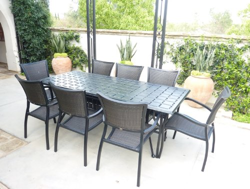 Oval patio set cover 130 39 lx86 39 w fits rectangular or oval for Oval patio set cover