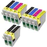 10 Compatible T2701 T2702 T2703 T2704 (Clock) Ink Cartridges For Epson Workforce WF-3620DWF WF-3640DTWF WF-7110DTW WF-7610DWF WF-7620DTWF