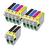 10 Perfect Print Compatible T1816 Ink Cartridges for Epson Expression Home XP102 XP202 XP212 XP215 XP205 XP30 XP302 XP305 XP312 XP315 XP402 XP412 XP415 XP405 XP405WH, 4x T1811, 2x T1812, 2x T1813 and 2x T1814