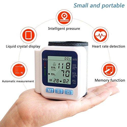 Drillpro Digitale Monitor di pressione Sanguigna ,Polso Equilibrio e Portatile,