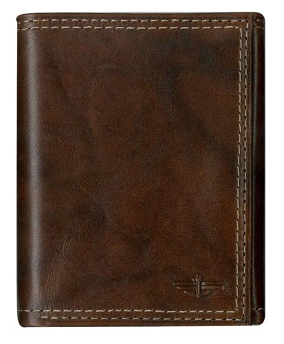 Dockers Men's Trifold Wallet,Brown,One Size