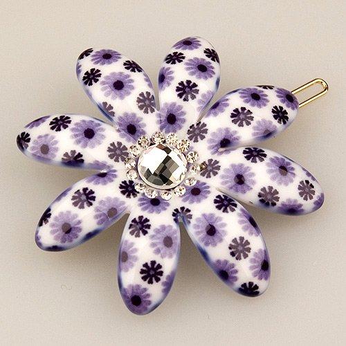 Vignette Light Violet Petal - Cubitas Picabia Collection (Hand-Set Swarovski Crystals, Hair Pin)