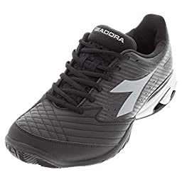 Diadora Men\'s S.Star K VII AG Tennis Shoe-10 D(M) US-Black