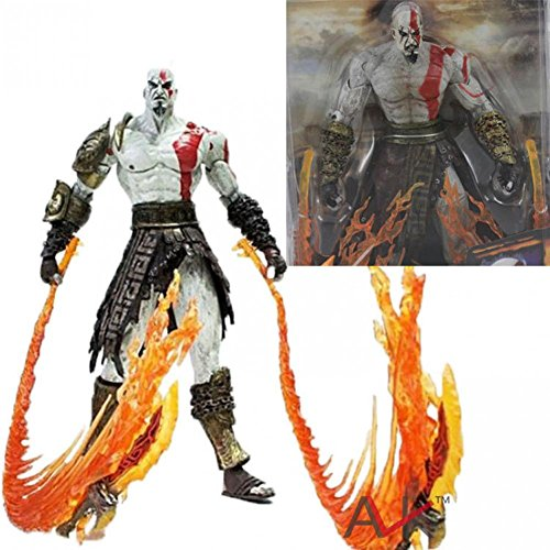 [Rosy Women Neca God Of War Kratos In Ares Armor Blades Pvc Action Figure Toy 7
