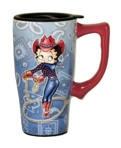 Betty Boop Cowgirl Travel Mug, Blue