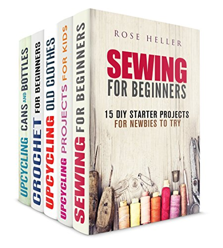 Sewing crochet and upcycling box set 5 in 1 amazing Upcycling for beginners