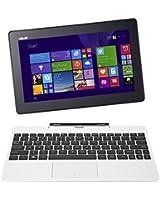 "Asus Transformer Book T100TAF-BING-DK005B PC portable Hybride Tactile 10,1"" Blanc (Intel Atom, 1 Go de RAM, Disque dur eMMC 32 Go, Windows 8.1) + Microsoft Office 365 inclus"