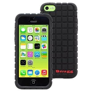 英国Snugg製 iPhone 5c 用 シリコンケース - スクエア模様・生涯補償付き(ブラック)
