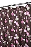 Park B. Smith Starburst Floral Shower Curtain, Coffee/Punch