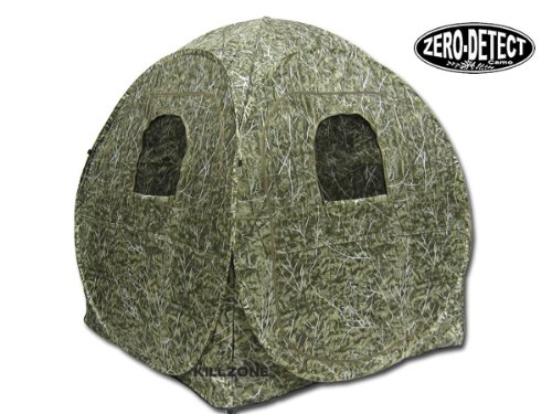 KillZone Hunting Pop-Up Ground Blind Turkey Deer with Zero Detect Camo 7M