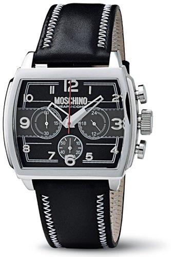 Moschino WATCH HEY MAN?! CHR MAN SS BLACK DIAL BLACK STRA MW0115- Orologio da uomo