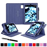 roocase Kindle Fire HD 7 2014 Case, new Kindle Fire HD 7 Dual View Folio Case with Sleep / Wake Smart Cover with Multi-Viewing Stand for All-New 2014 Fire HD 7 Tablet (4th Generation), Navy