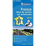 Carte Aires de service sur autoroutes France 2015 Michelin