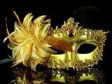 あんたも今日から中世の貴族!! ヴェネツィアン風マスク 金 ハロウィン/学園祭/パーティー/仮面舞踏会 ゴールド