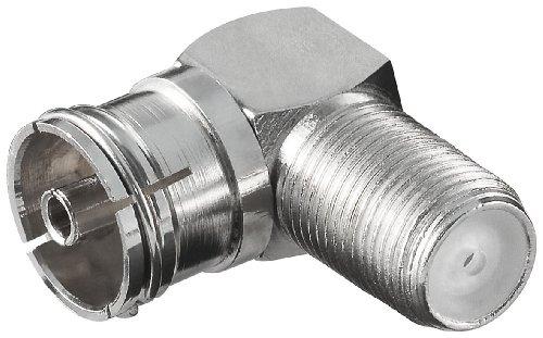 Adapter:F-Kupplung>Koaxial Kupplung, 90°; WE 1173 W (F-jack>coaxial jack)