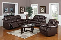 Hot Sale Huntington 3-pc Bonded Leather Sofa & Loveseat & Chair Set with 5 Recliners