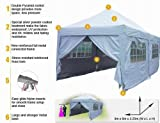 6x3m EZ Pop Up Gazebo Party Wedding Tent Canopy Marquee-2009 Pyramid-roofed /Steel Connector/ Silver Coat Cover