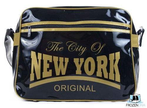 New York Original Shoulder Bag | Black & Gold | Messenger | Robin Ruth USA - 1