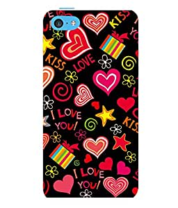 printtech I Love You Heart Gift Back Case Cover for Apple iPhone 5C