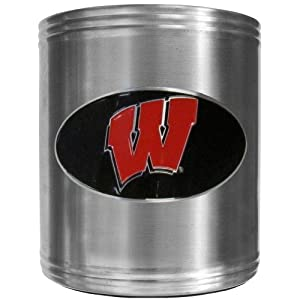 Siskiyou Sports NCAA Wisconsin Badgers Steel Can Cooler