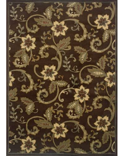 Granville Rugs Emery Rug, Brown/Red/Tan/Grey, 3′ 2″ x 5′ 7″