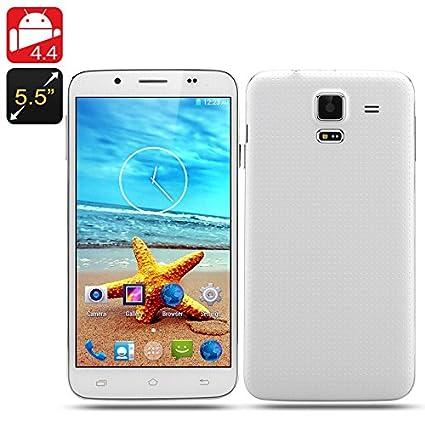5.5 Inch Quad Core Smartphone 'Scenic' - Android 4.4 OS, 960x540 QHD Screen, 1GB RAM, 8GB Internal Memory (White)