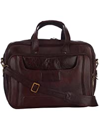 Leatherman Mens Brown Colored Genuine Leather Shoulder Bags