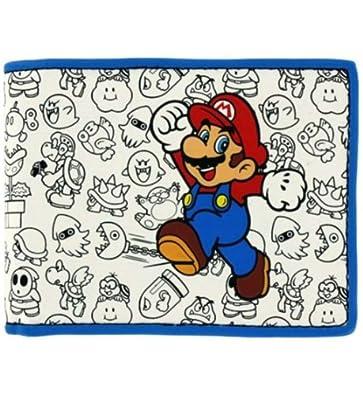 Mens Bioworld Nintendo Super Mario Bros. Mario with Enemies Bifold Wallet