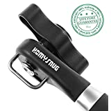 HomySnug(TM) Manual Can Opener - Smooth Edge, Multifunctional Heavy Duty Stainless Steel Cap Lifter with Anti Slip Ergonomic Smooth Handle, Side Cut No Sharp Cuts Design without Touching Food
