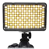 Mcoplus 168Pcs LED 3200k-7500k Bi-Color Dimmbare Ultrahoch Power Panel Digitalkamera / Camcorder Videolicht Videolampen Videobeleuchtung für Canon, Nikon, Pentax, Panasonic, Sony, Samsung und Olympus Digital SLR Kameras