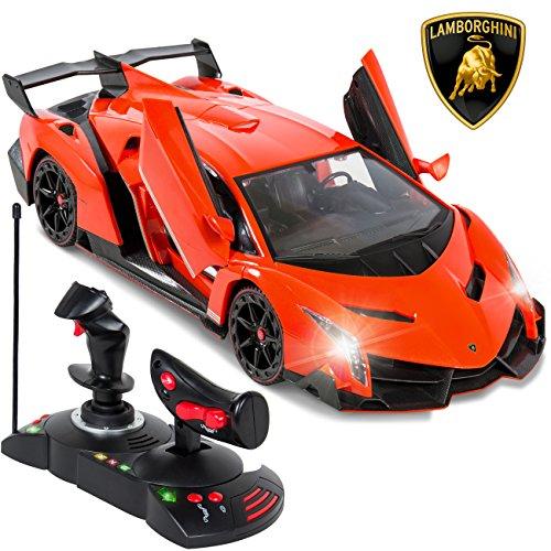 Best-Choice-Products-114-Scale-RC-Lamborghini-Veneno-Gravity-Sensor-Remote-Control-Car-Orange