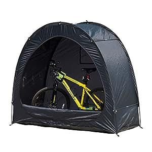 Garaje Shed Carpa de almacenamiento de bicicletas Portable, Negro