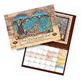 """""""They Walked with God"""" Art Wall Calendar From Israel, Hebraic Roots, Biblical / Jewish calendars made in Israel for Christians and Messianic Believers, 16-months (September 2014-December 2015)"""