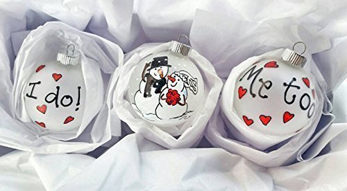 First wedding Christmas ornament set - First Christmas 2016 - Wedding Ornament Gift Set