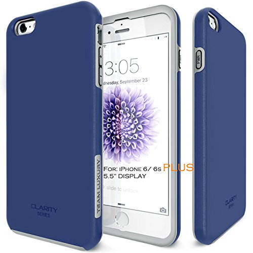 best loved d7354 1ebe9 iPhone 6S Plus Case, Team Luxury Clarity Series Dark Blue - Import It All